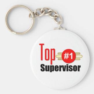 Top Supervisor Basic Round Button Keychain