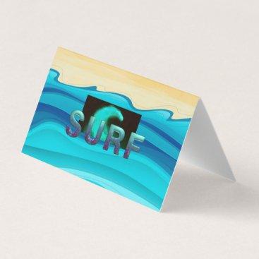 Beach Themed TOP Surf Business Card