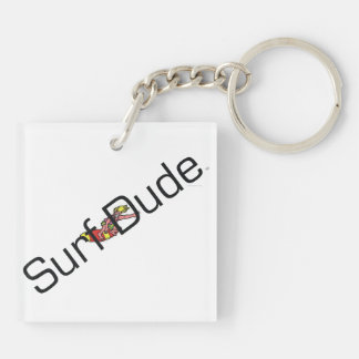 TOP Surf Dude Double-Sided Square Acrylic Keychain