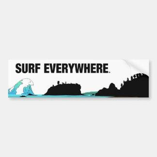 TOP Surf Everywhere Bumper Sticker