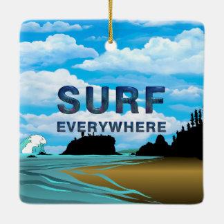 TOP Surf Everywhere Ceramic Ornament