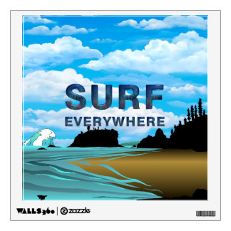 TOP Surf Everywhere Room Decal
