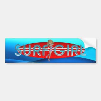 TOP Surf Girl Bumper Sticker
