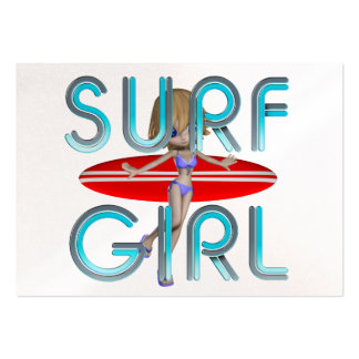 TOP Surf Girl Large Business Card