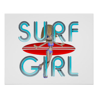 TOP Surf Girl Poster
