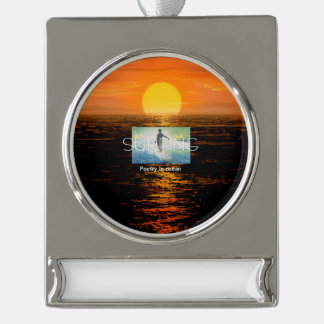 TOP Surf Poetry Silver Plated Banner Ornament