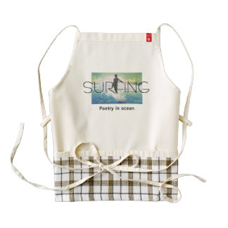 TOP Surf Poetry Zazzle HEART Apron