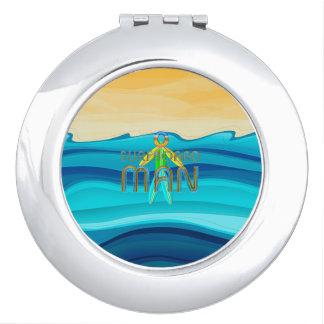 TOP Surfboard Man Compact Mirror