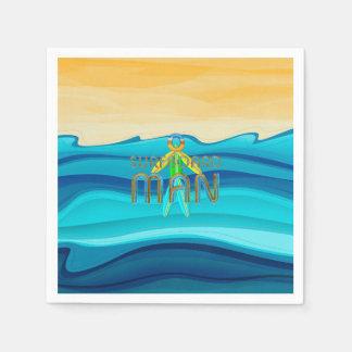 TOP Surfboard Man Paper Napkin