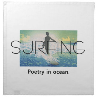 TOP Surfing Poetry Cloth Napkin