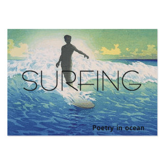 TOP Surfing Poetry in Ocean Large Business Cards (Pack Of 100)
