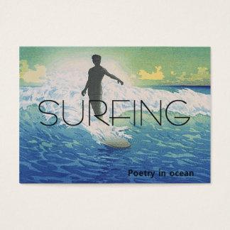 TOP Surfing Poetry in Ocean Business Card