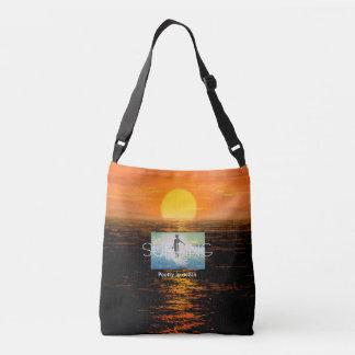 TOP Surfing Poetry in Ocean Crossbody Bag