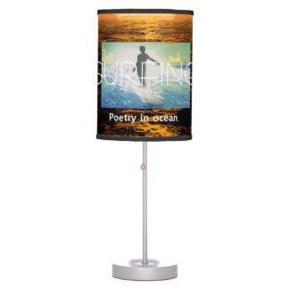 TOP Surfing Poetry in Ocean Desk Lamp