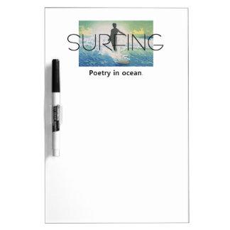 TOP Surfing Poetry in Ocean Dry-Erase Board