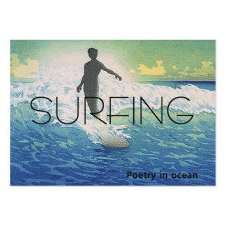 TOP Surfing Poetry in Ocean Large Business Card