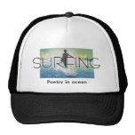 TOP Surfing Poetry in Ocean Mesh Hats