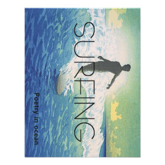 TOP Surfing Poetry Personalized Invites