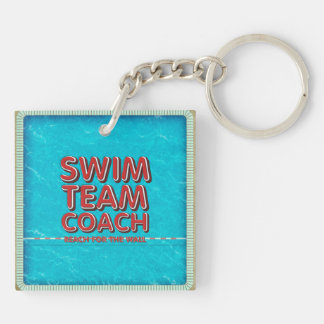 TOP Swim Coach Keychain