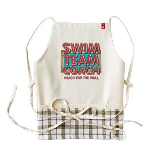TOP Swim Coach Zazzle HEART Apron