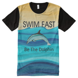 TOP Swim Dolphin Fast All-Over Print Shirt