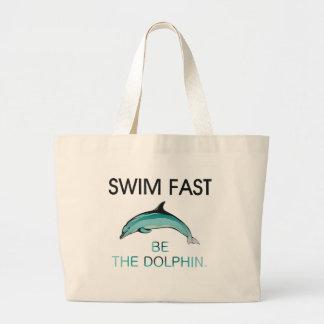 TOP Swim Dolphin Fast Jumbo Tote Bag