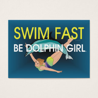 TOP Swim Dolphin Fast Business Card