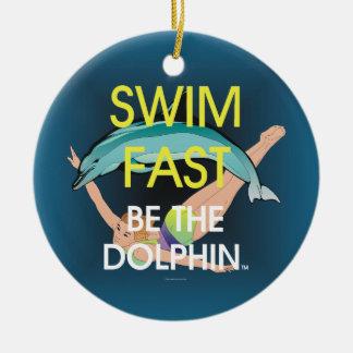 TOP Swim Dolphin Fast Ceramic Ornament
