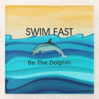 TOP Swim Dolphin Fast Glass Coaster