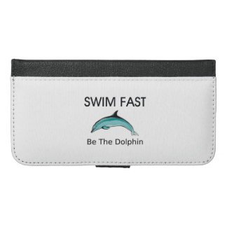 TOP Swim Dolphin Fast iPhone 6/6s Plus Wallet Case