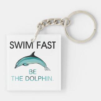 TOP Swim Dolphin Fast Keychain