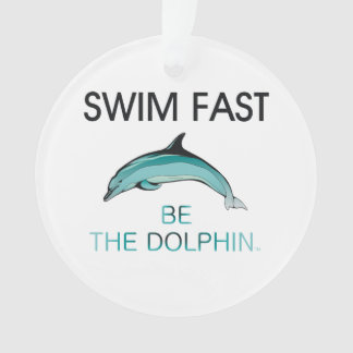 TOP Swim Dolphin Fast Ornament