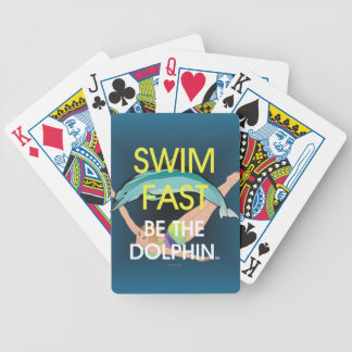 TOP Swim Dolphin Fast Bicycle Playing Cards