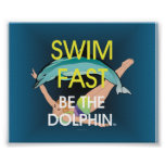 TOP Swim Dolphin Fast Poster