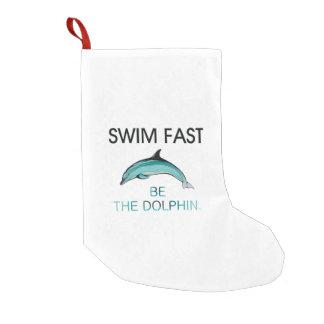 TOP Swim Dolphin Fast Small Christmas Stocking