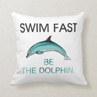 TOP Swim Dolphin Fast Throw Pillow