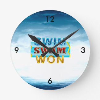 TOP Swim Swam Won Round Clock