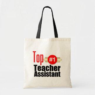 Top Teacher Assistant Budget Tote Bag