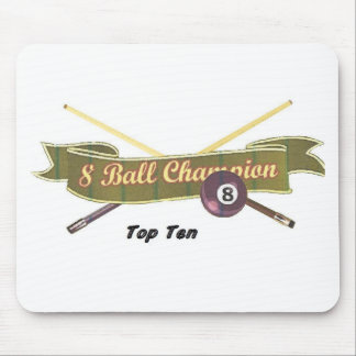 Top Ten 8 ball Champion Mouse Pad