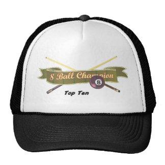 Top Ten 8 ball Champion Trucker Hat
