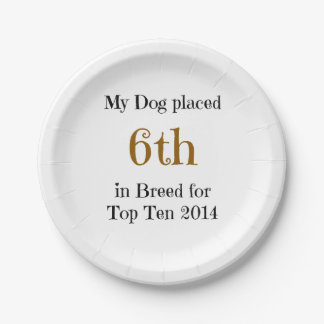 Top Ten Breed 6th Paper Plate