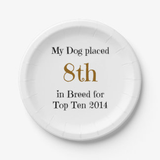 Top Ten Breed 8th Paper Plate
