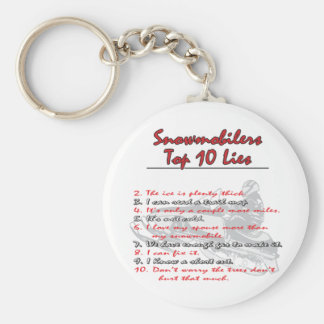 top-ten-on-Black-png Keychain