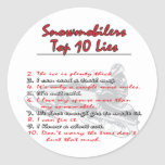 top-ten-on-Black-png Round Stickers