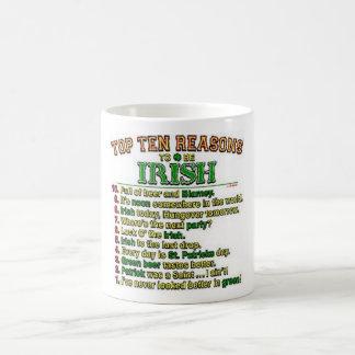 Top Ten reasons to be Irish Classic White Coffee Mug