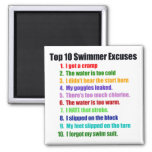 Top Ten Swimmers Excuses 2 Inch Square Magnet