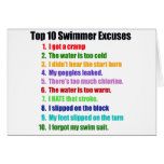 Top Ten Swimmers Excuses Card