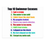 Top Ten Swimmers Excuses Postcard