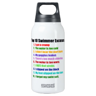 Top Ten Swimmers Excuses Thermos Bottle