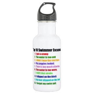 Top Ten Swimmers Excuses Water Bottle